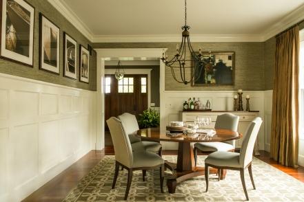 newport shingle style dining room