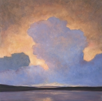 Atmospheric III - Evelyn Rhodes - 30x30 oil on linen canvas