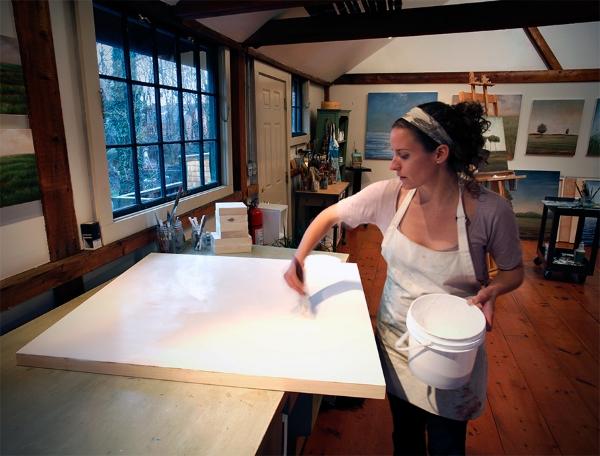 jessica Pisano in her studio