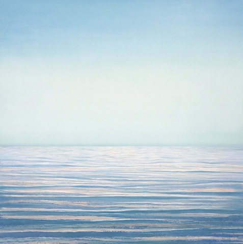 Jessica Pisano - Still Waters 40 x 40 oil and silver leaf on panel
