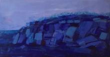 Kelly-Milukas---Rock-Ridge-at-Warren's---Encaustic-Painting-Framed-in-Ash