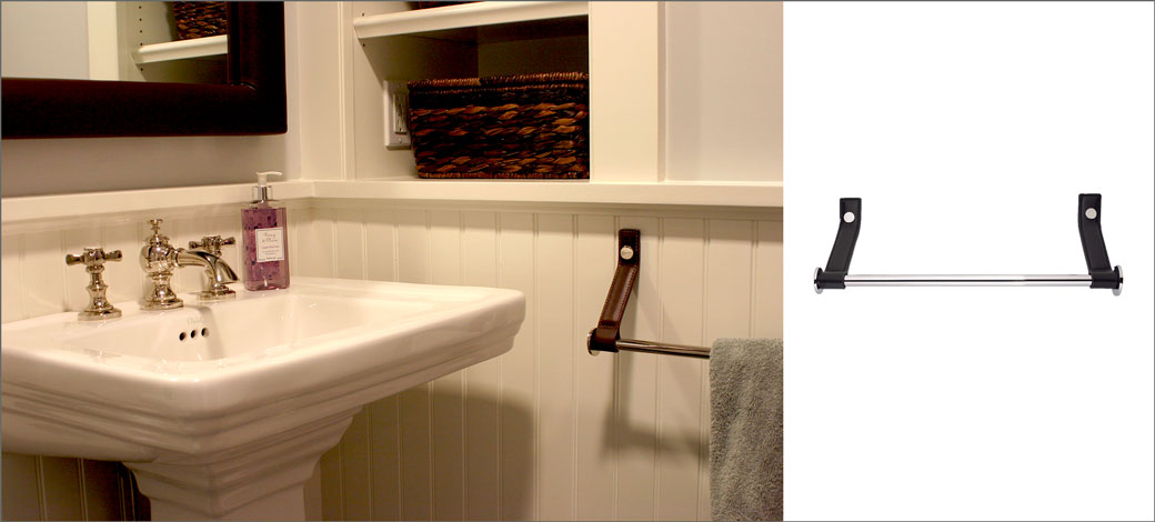 leather-strap-bathroom-towel-rack-working