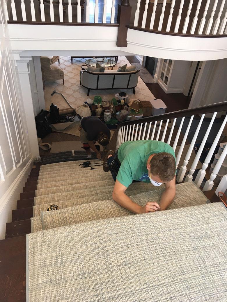 stairwell-runner-install
