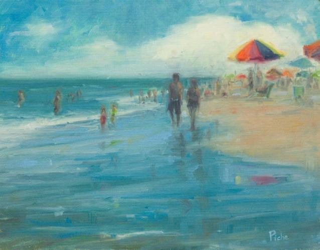 Vanessa Piche Beach Stroll