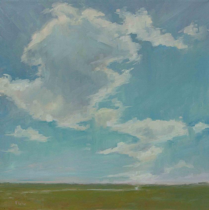 Vanessa Piche - Big Sky Over Zeeks 24 x 24 OC 2400