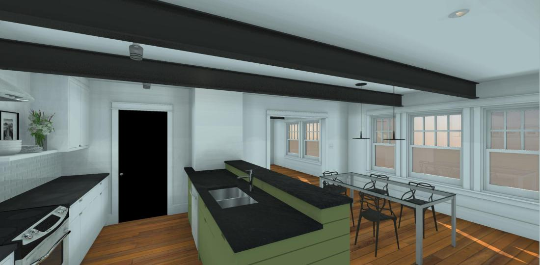 10.24.16.Blount.Kitchen From Mudroom.3D Render
